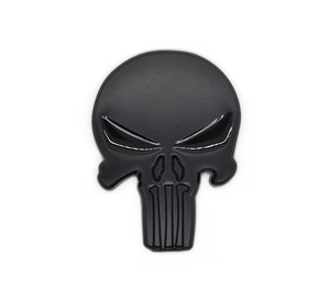 Image 5 - Rhino Tuning THE Punisher Body Badge 3D Skull Sticker Metal Auto Emblem For The Whole Body QX80 FX35 G25 Q70 Qx60 Car Styling