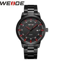 WEIDE stainless steel men's watches  luxury brand Clock business automatico men watches Analog waterproof sport Quartz watch все цены