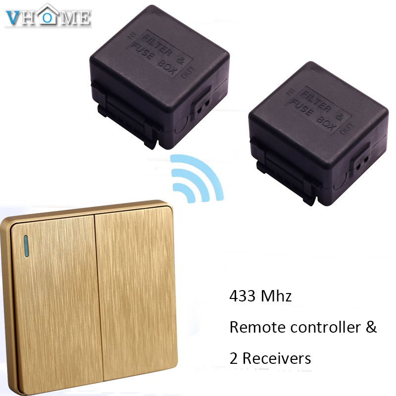 Remote Switch Wireless Universal Remote 2 Gang Switch Shape Controller DC 12V RF Switch Transmitter Receiver System 433MHz ...