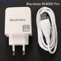 Blacvkiew BV9000 Pro Charger met kabel 1 M Originele Blackview BV8000 Pro EU Europa standaard Adapter Voor BV8000 P2 Lite P2