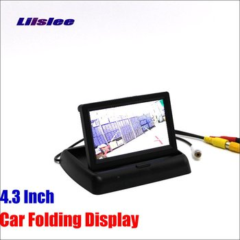 Liislee For Peugeot 407 2D coupe / 4D Sedan Foldable Car HD TFT LCD Monitor Screen Display / NTSC PAL Color TV System image