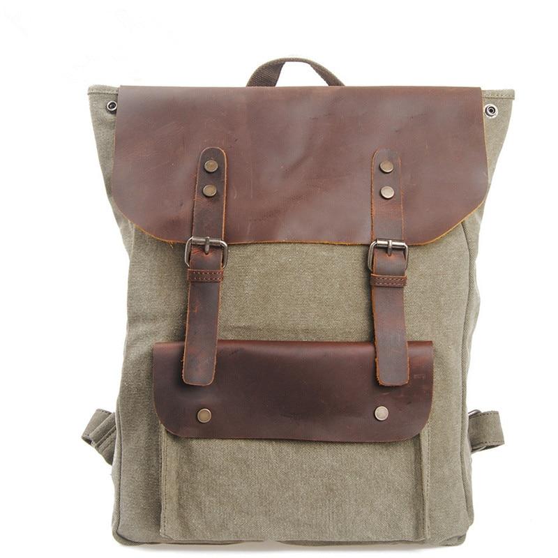 ФОТО Women Men Canvas Patchwork Vintage Rucksack Backpacks Travel School Bag Shoulder Bags