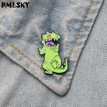 DMLSKY Cute Cartoon Metal Brooch Clothes Pins Men Lapel Pin Collar Badge Charming Jewelry Gifts M3197