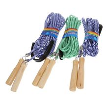 Hot Wooden Handle Skipping 5m 7m 10m Gym School Group Multi Person Rope Jumping
