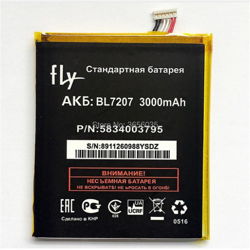 Tyrca New 3000mAh BL7207 Battery For <font><b>Fly</b></font> IQ4511 IQ <font><b>4511</b></font> BL 7207 Mobile <font><b>Phone</b></font> High Quality Batteria Li-ion Accumulator Replace