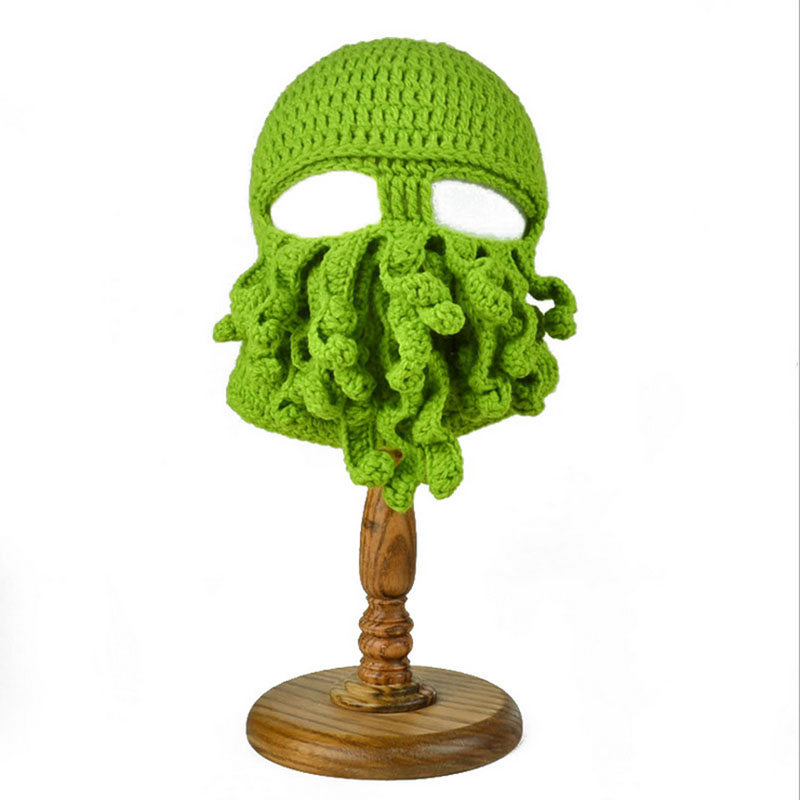 Free Shipping 2015 New ON SALE Unisex Octopus Winter Warm Knitted Wool Face Mask Hat Squid Cap Cthulhu Tentacles Beanie Hat best new product on sale 30
