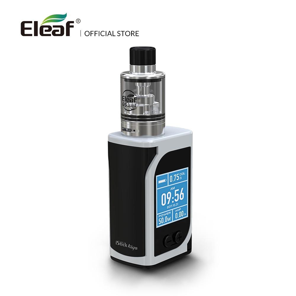 Originla Eleaf iStick Kiya Kit avec atomiseur GS Juni construit en 1600 mAh batterie 0.75ohm/1.5ohm GS Air atomiseur E Cigarette