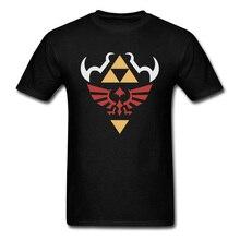 Men T-shirt Game Print Logo Tshirt Zelda Hylian Shield Ocarina Of Time Tops & Tees 2019 Legend Of Zelda T Shirt Custom Designer поло print bar legend of zelda