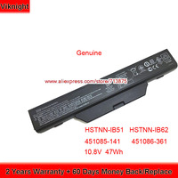 Genuine 10.8V 47Wh HSTNN IB51 Battery for HP Compaq 610 6720s 6730s 6735s 6820s 6830s HSTNN IB62 451085 141 451086 361 HSTNN FB5