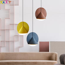 KAIT Modern LED Pendant Light Nordic Colorful Metal Living Room Lamp