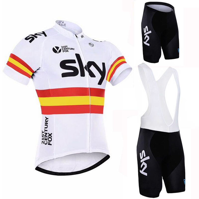 ФОТО SKY Team 100% Polyester Breathable Cycling Set Summer MTB Bicycle Jersey Clothing Ropa Maillot Ciclismo Bike Clothes Sportswear