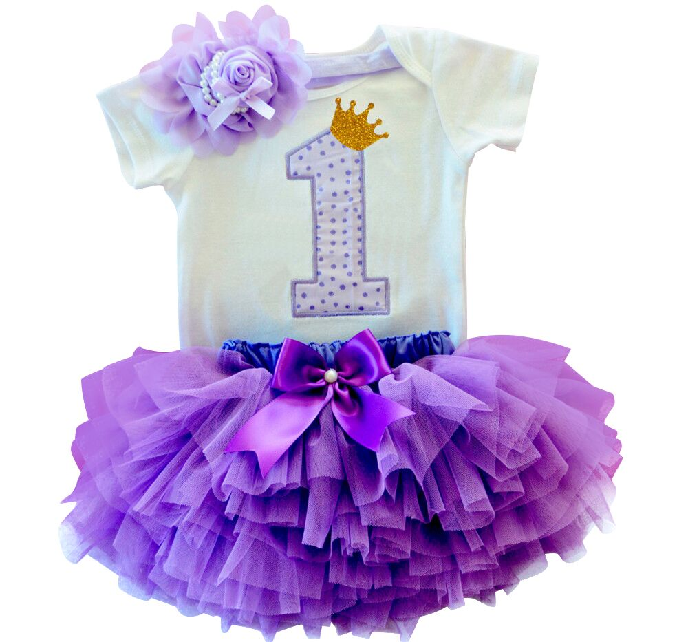 Newborn Baby Girl First Birthday Clothes Romper + Headband + Tutu Skirt Suits Kids Clothing Sets Outfits Infant Princess Costume