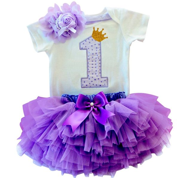 a8a871869bbb2 US $6.78 30% OFF|Newborn Baby Girl First Birthday Clothes Romper + Headband  + Tutu Skirt Suits Kids Clothing Sets Outfits Infant Princess Costume-in ...