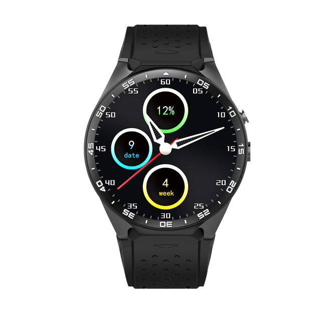 Tezer top sports kw88 3g wifi gps smart watch para android 5.1 ios mtk6580 frecuencia cardíaca gps google jugar youku 512 mb/4 gb remoto
