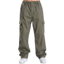 2017 Men's Baggy Casual Pants Autumn Winter High Quality Elastic Muti Pockets Loose Cargo Pants Full Length Plus Size XL-6XL
