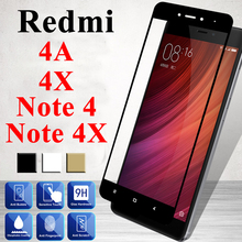 Protective Glass On Ksiomi Redmi 4x For Xiaomi Red Mi 4a Screen Protector Note 4 Tempered Armor A X Xiomi Note4 Mi A4 X4 Note4x
