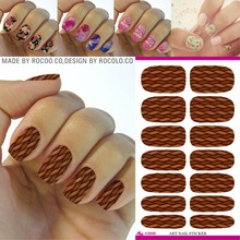 Buy bamboo nail polish and get free shipping on aliexpress rocooart k5646 bamboo texture manicure tips water transfer nail art sticker woven shape full cover nail prinsesfo Gallery