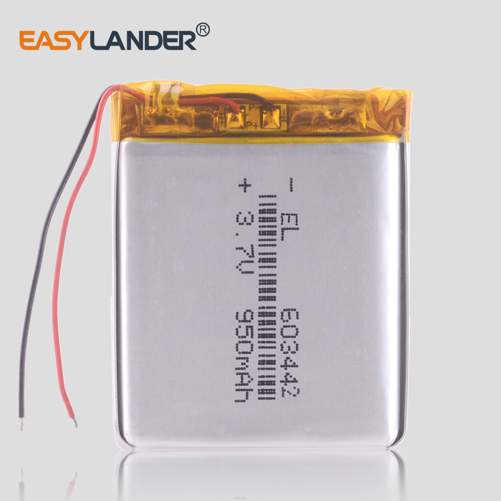 603442 063442 <font><b>3.7V</b></font> <font><b>950mAh</b></font> Lithium polymer <font><b>battery</b></font> rechargeable lipo flashlight diode MP3 player vertical computer mouse dvr image