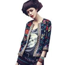 OC Fairy Store Hot Selling Drop Shipping Women Slim Floral Outwear Parka Trench Coat Jacket