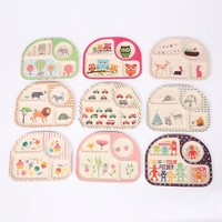 New Baby Kids Cute Cartoon Bamboo Fibre Dinner Plate Dinnerware Safe Children Eco Dishes Zoo Animal
