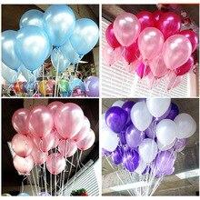 100pcs 1.2g 10inch helium/latex balloon air balls inflatable toy wedding party decoration happy birthday kid globos party baloon стоимость