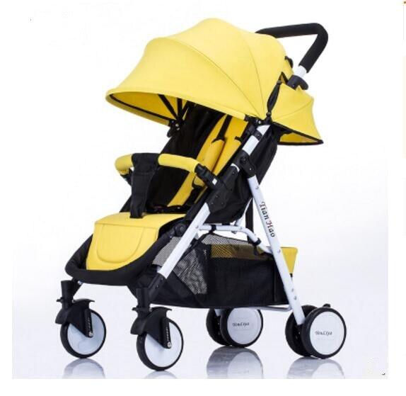 2019 poussette peut s'asseoir inclinable pliant ultra léger portable bébé parapluie enfant poussette pliante bb voiture lumière bébé poussette