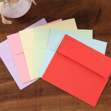 50pcs/lot 9*10cm Color Mini Small Envelope Solid Bank Card / Membership Candy Paper Square