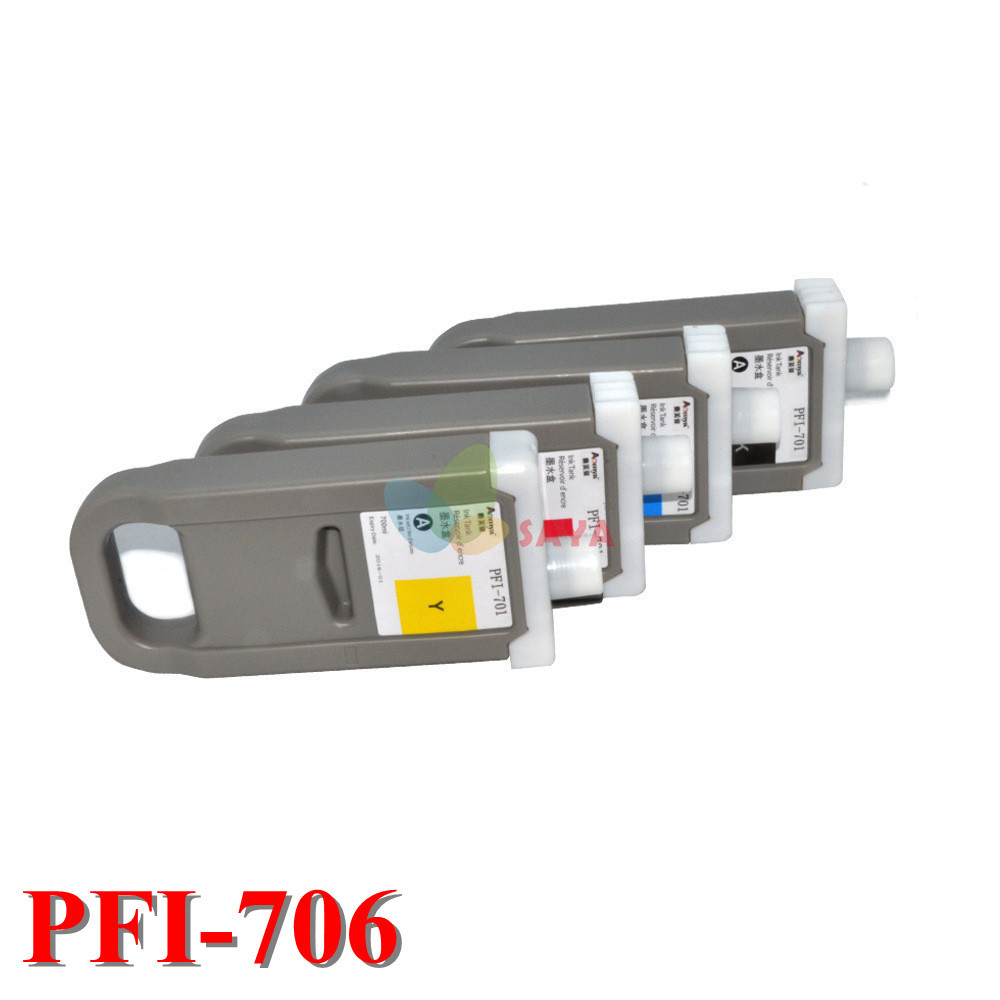 все цены на  12colors PFI-706 with pigment ink Compatible Ink Cartridge For Canon iPF 8410 iPF8400 iPF9400 printer Cartridge 700ml with chip  онлайн
