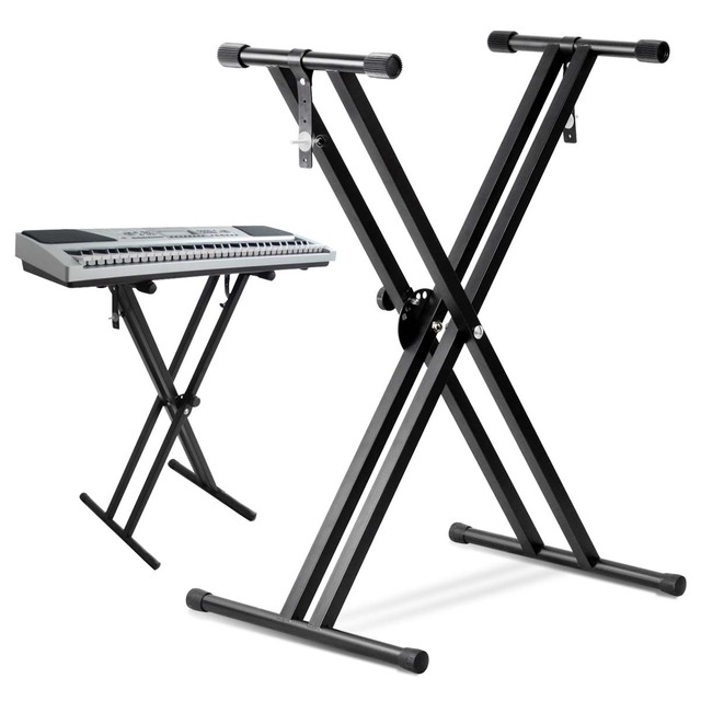 Good deal FOLDING ADJUSTABLE DOUBLE X FRAME KEYBOARD STAND WITH ...