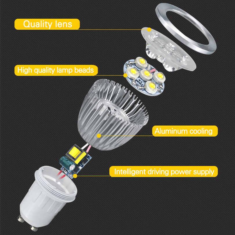 סופר בהיר זרקור LED מנורת LED זרקור DC12V 9 W 12 W 15 W באיכות גבוהה GU10 MR16 E27 E14 ספוט אור Lampada LED הנורה 220 V