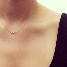 New Style Infinite-Love plated gold color Pendant necklace Fashion Statement Clavicle Chains Necklace For Women Jewelry