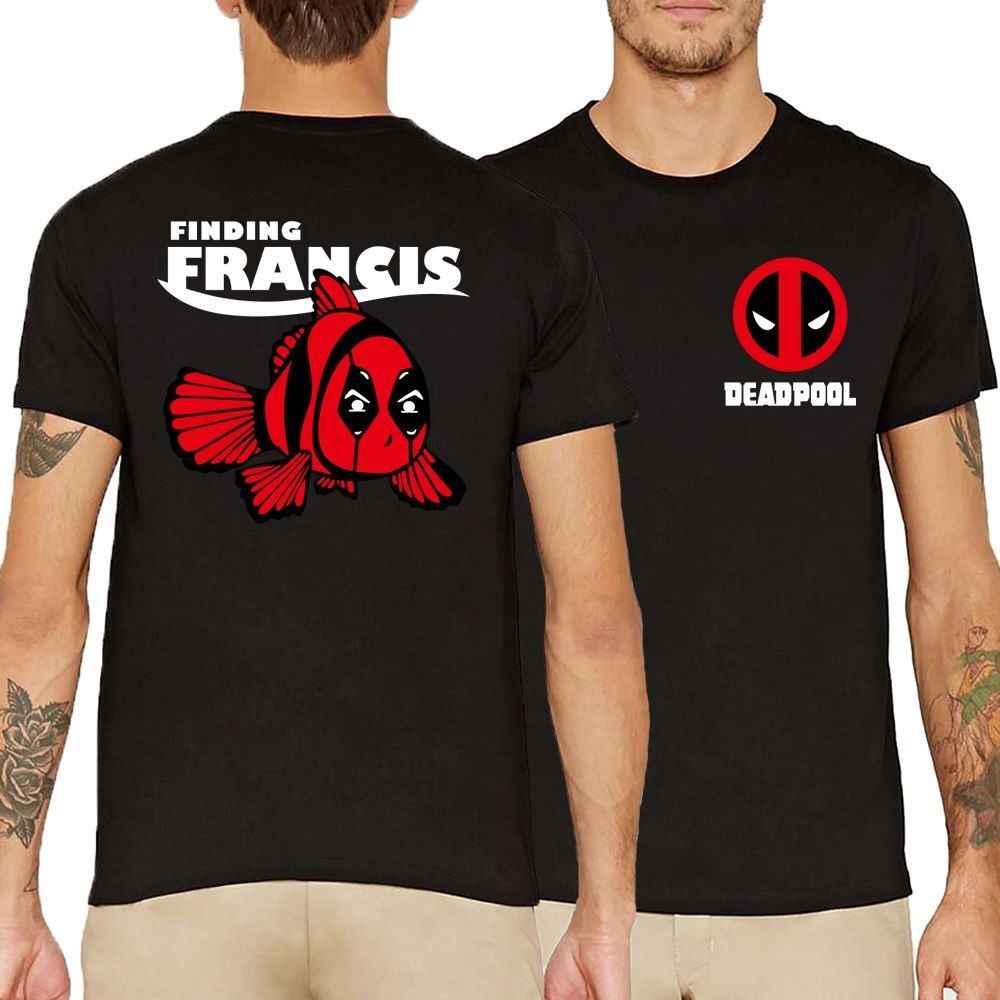 Camiseta Deadpool divertido chico Cool hombres de manga corta pez encontrar Francis camiseta