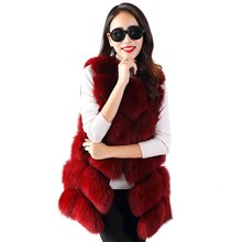 Individuality Design Pure Color Texture Women Vest  Stylish Round Neck Sleeveless Pure Color Faux Fur Women's Waistcoat