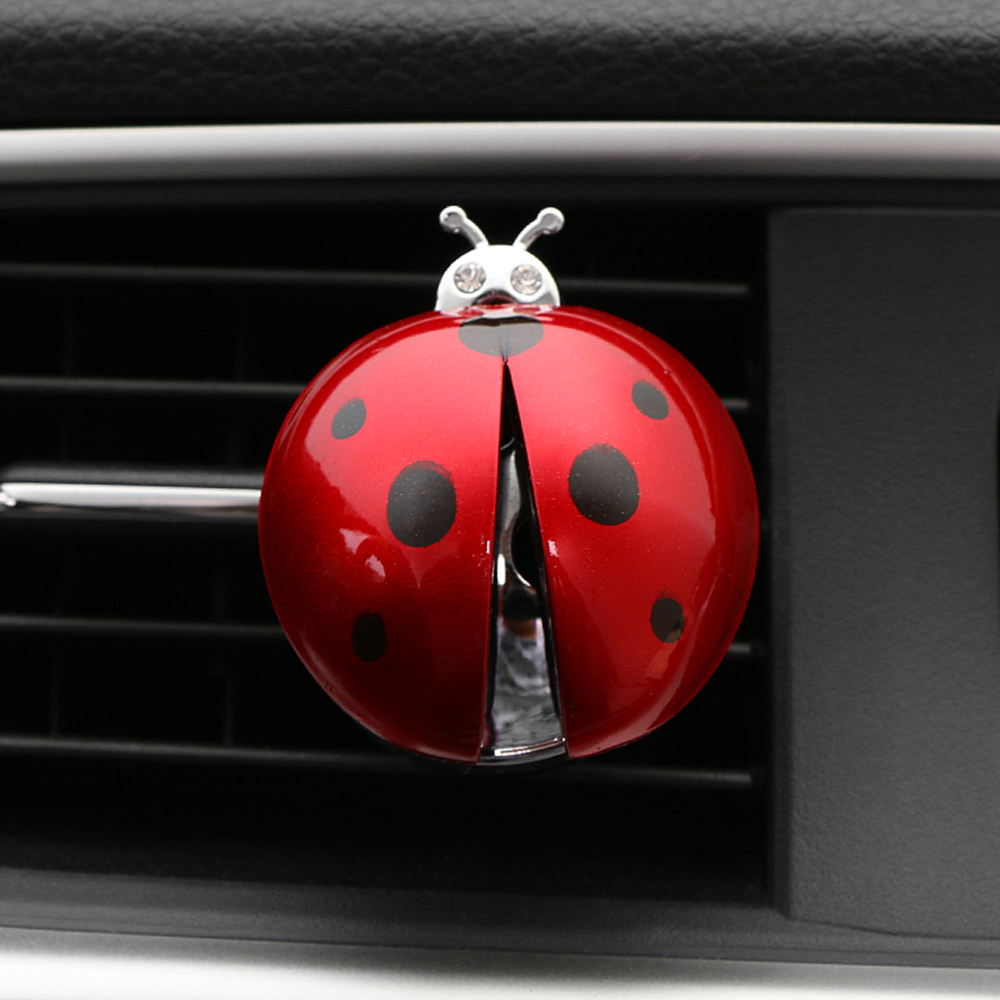 Car Ornament ABS Ladybug Decoration Perfume Clip Air Purifier Cute Automobiles Interior Fragrance Essential Oil Diffuser Gifts