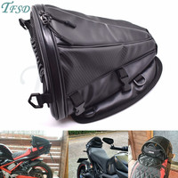 new carbon fiber color motorcycle tail bag motorcycle seat backpack saddle bag custom travel handbag for Yamaha YZF R1 R6 R6S