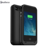 External Power Bank Pack Charger Backup Battery Protect Case For Iphone4 4s 2000mAh Cover Cases With