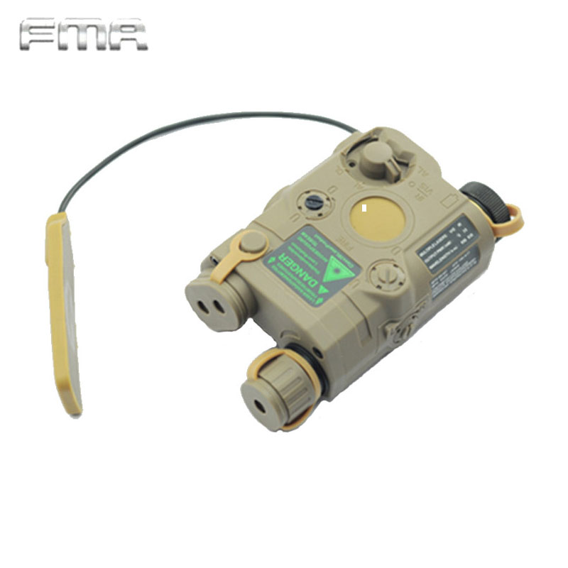 FMA Tactical AN/PEQ-15 Battery Box Laser Red Dot Laser with White LED Flashlight and IR Lens Military Airsoft Hunting Device fma tactical an peq 15 green dot laser with white led flashlight