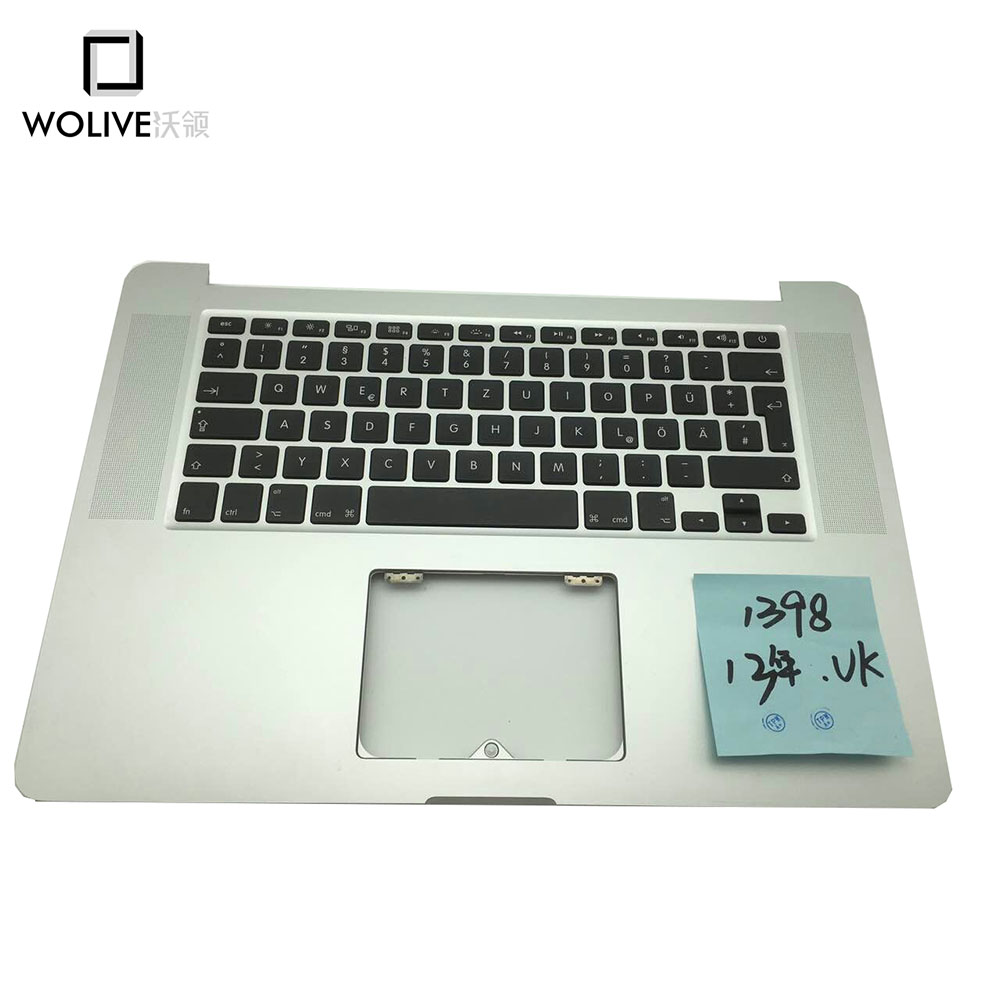 New A1398 2013 Topcase Palmrest with UK keyboard without touchpad For font b Macbook b font