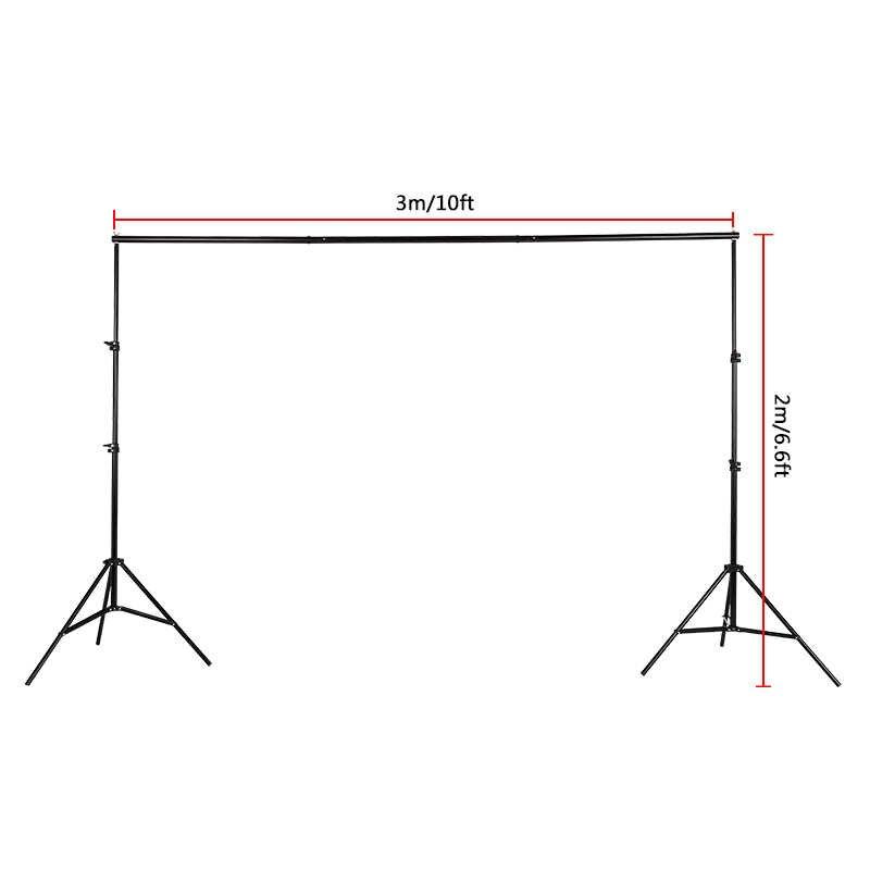 دعامة خلفية قابلة للتعديل 2 متر × 3 متر/حامل دعامة للصور للمحترفين طقم العارضة استوديو