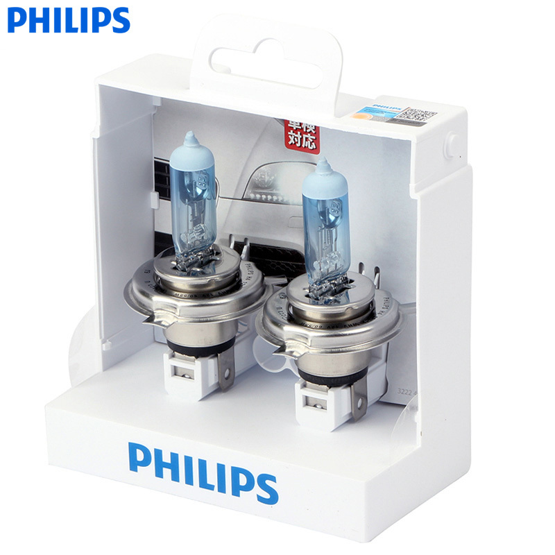 Philips One Pair WhiteVision Halogen light 4300K H1 H4 H7 H11 H3 HB3 HB4 12V 55W Whitelight Brighten 60% headlight