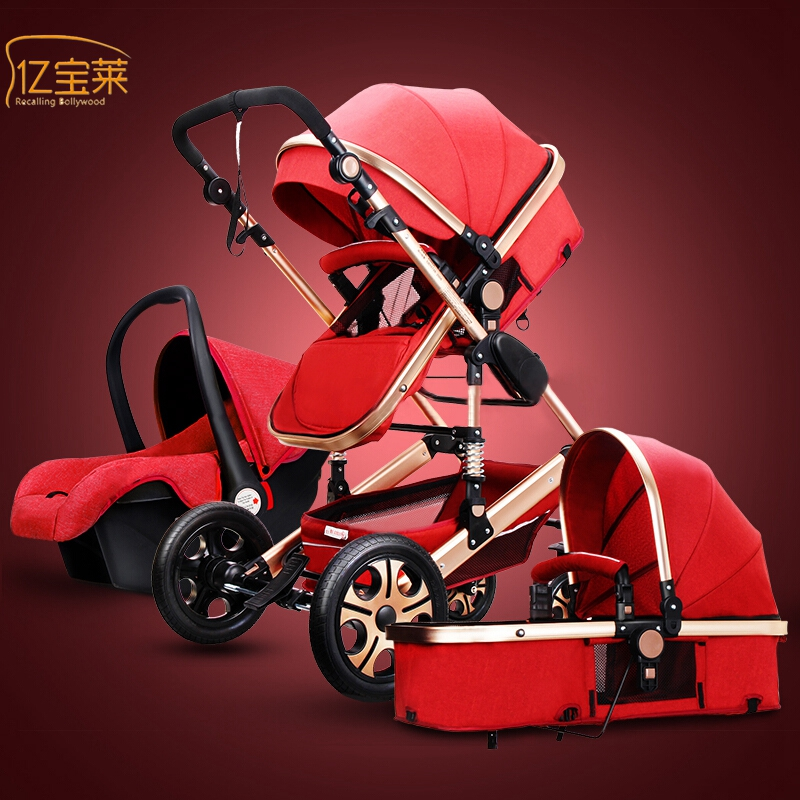 YIBAOLAI light weight folding strollers can sit reclining stroller trolley travel four models shipping Russia