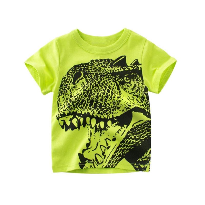 Loozykit/Летняя детская футболка для мальчиков футболки с короткими рукавами и принтом короны для маленьких девочек хлопковая детская футболка футболки с круглым вырезом, одежда для мальчиков - Цвет: Style 4
