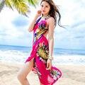 Praia Pareo Cachecol Estilingue Cinta Verão Das Mulheres Chiffon Cachecóis Xale Cachecol Cape Roupas de Marca Floral Lenços Echarpes Femme