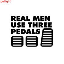 Real Men Use Three Pedals Vinyl Sticker Decal Diesel Turbo Car Stickers And Decals Decoration