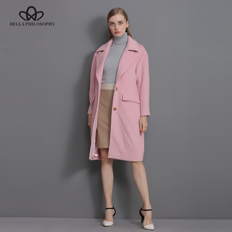 Bella Philosophy 2018 New wool long thick coat jacket Women warm - Women's Clothing - Photo 2