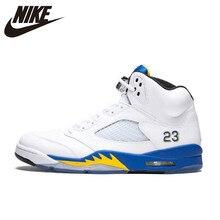 sports shoes c346b 2ee8e Original auténtico Nike Air Jordan 5 Retro Laney respirables de los hombres  de zapatos de baloncesto