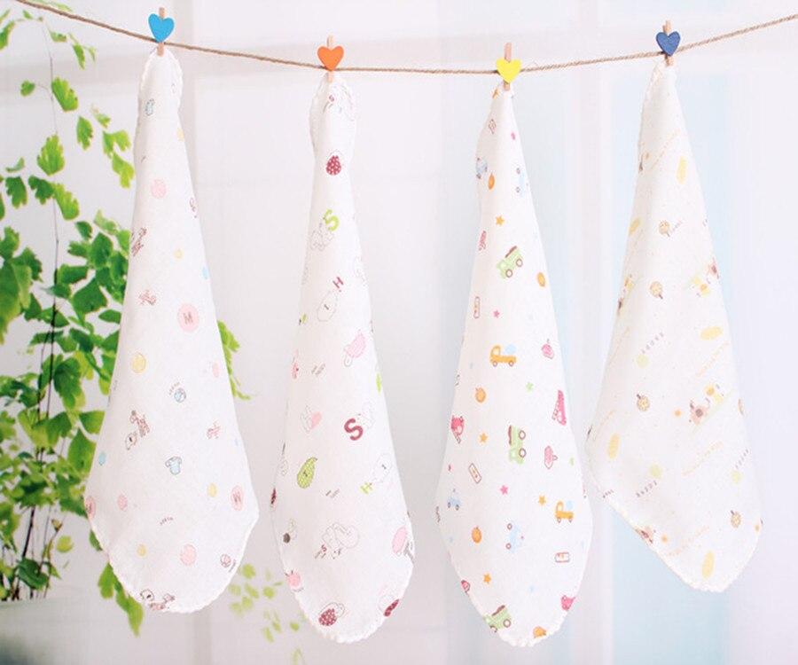 Freies Verschiffen 20 teil/los Cartoon Baumwolle Weiche Baby Speichel Waschen Ein Gesicht Handtuch Taschentuch Säuglingsspeicheltuch Bib Mix Farbe