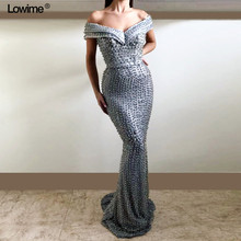 Lowime Sexy Off The Shoulder Mermaid V-neck Dresses 2018