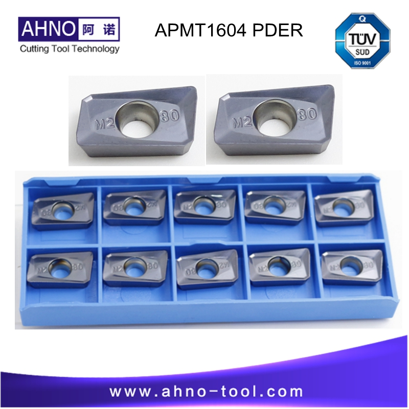 APMT1604 PDER M2 10pcs/lot AHNO CNC Solide Carbide Indexable Milling <font><b>Inserts</b></font> Tools for Face Mill BAP 400R and RAP75 image