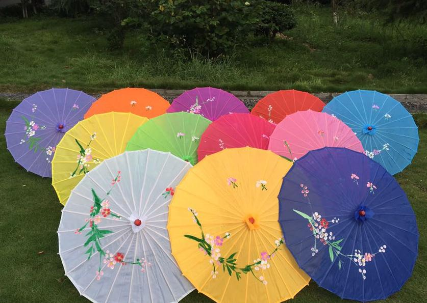 Small size hand-painted flower design 10colors decorative Chinese Children umbrella Folk Art parasol holiday gift